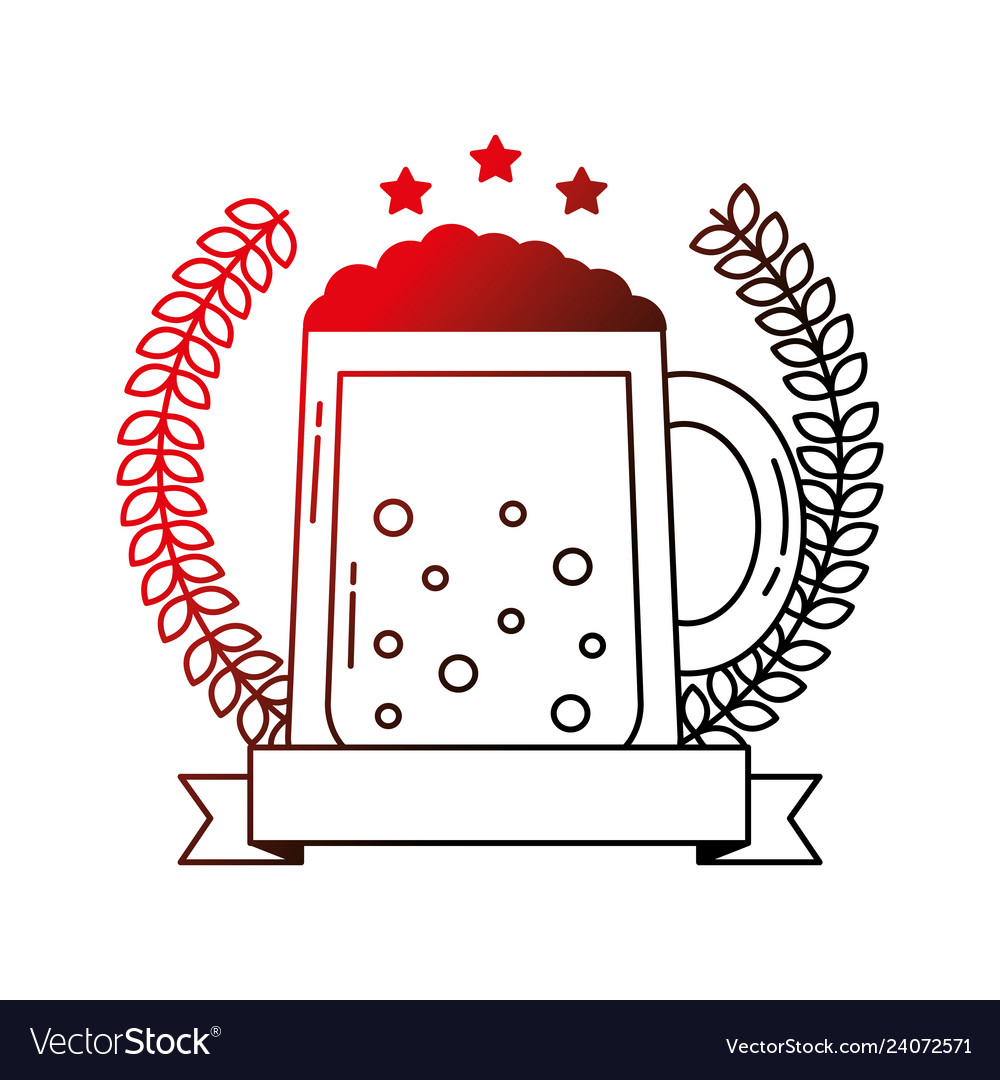 Beer glass drink celebration emblem