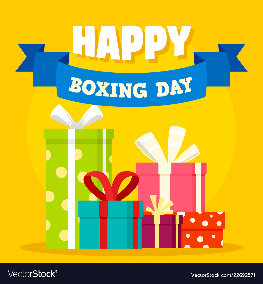 Boxing day concept background flat style