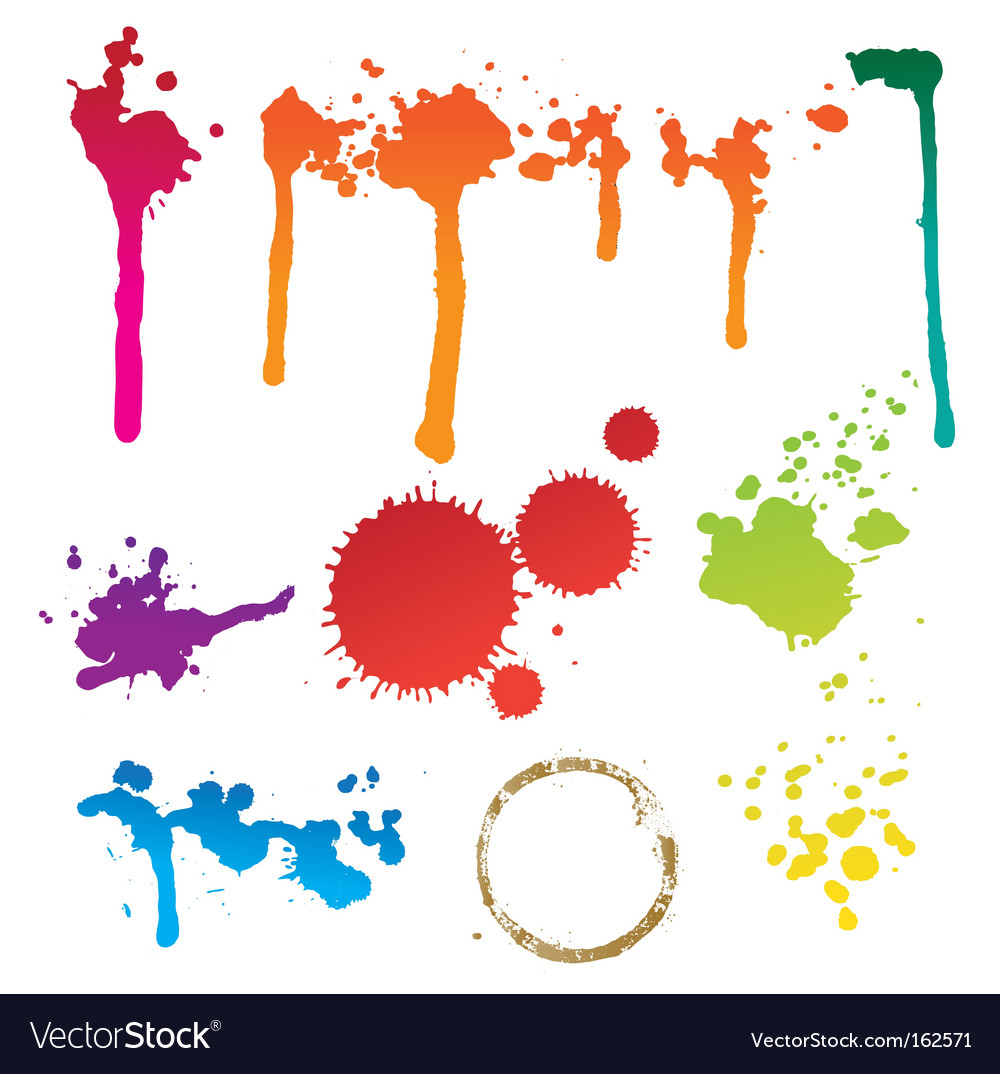 Colorful stain vector image