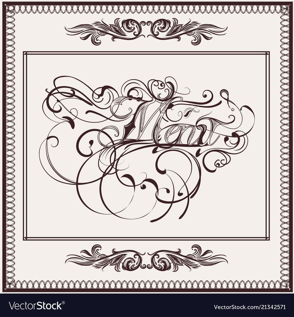 elegant menu design in classic style royalty free vector