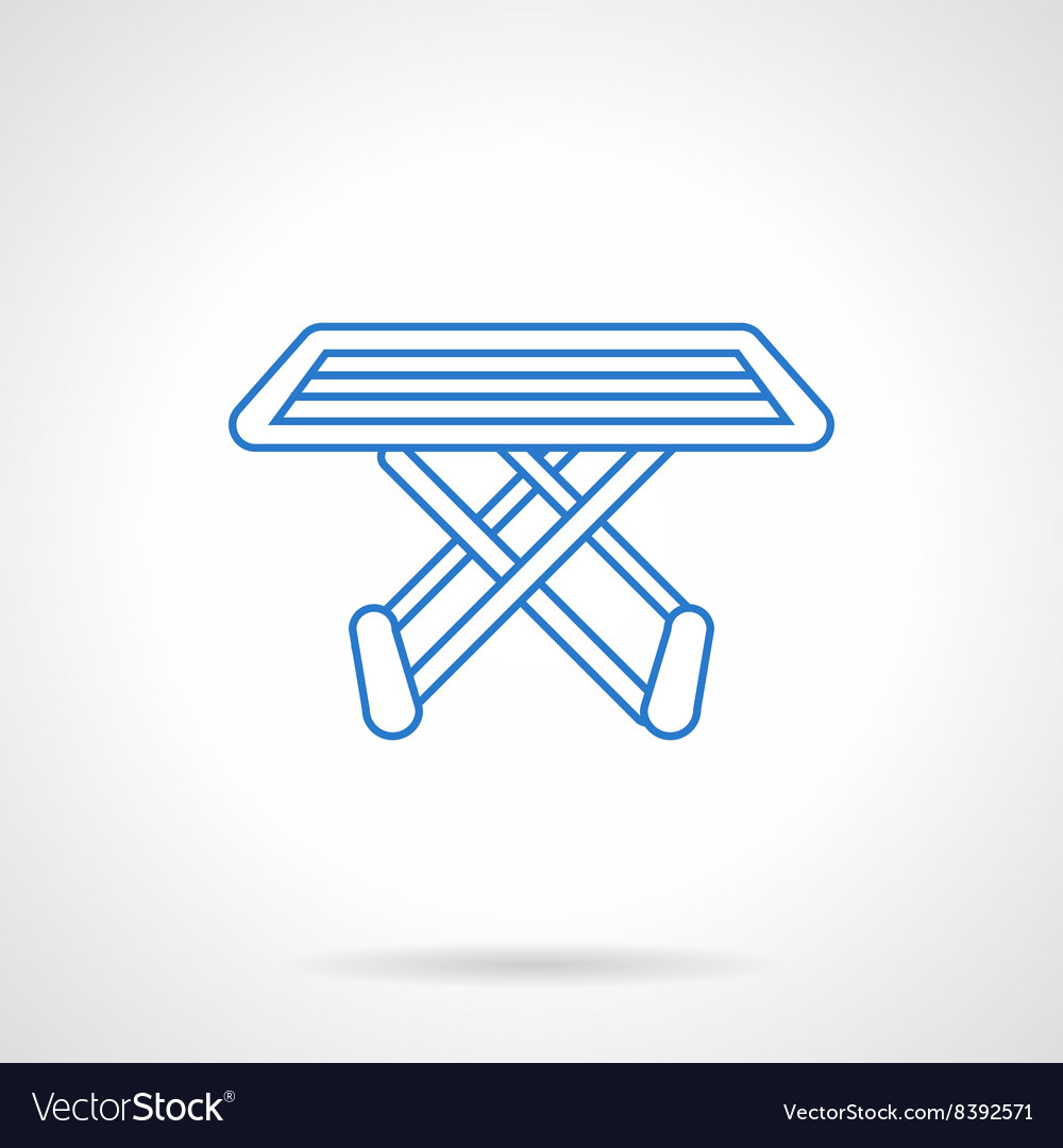 Folding Drying Rack Flat Line Icon Royalty Free Vector Image
