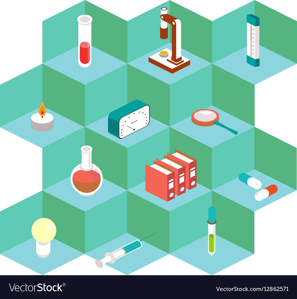 Isometric medical icons For the design of