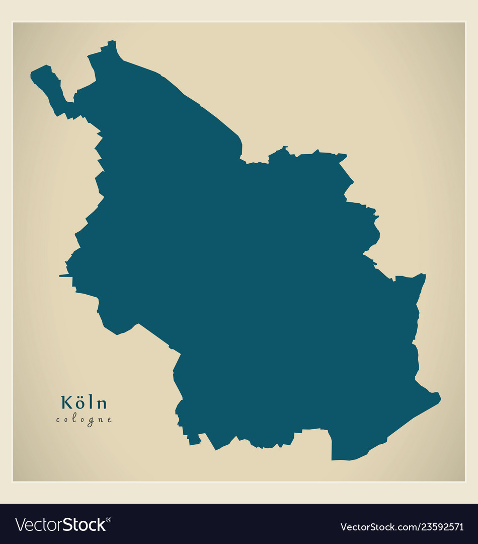 Modern Map Cologne City Of Germany De Royalty Free Vector