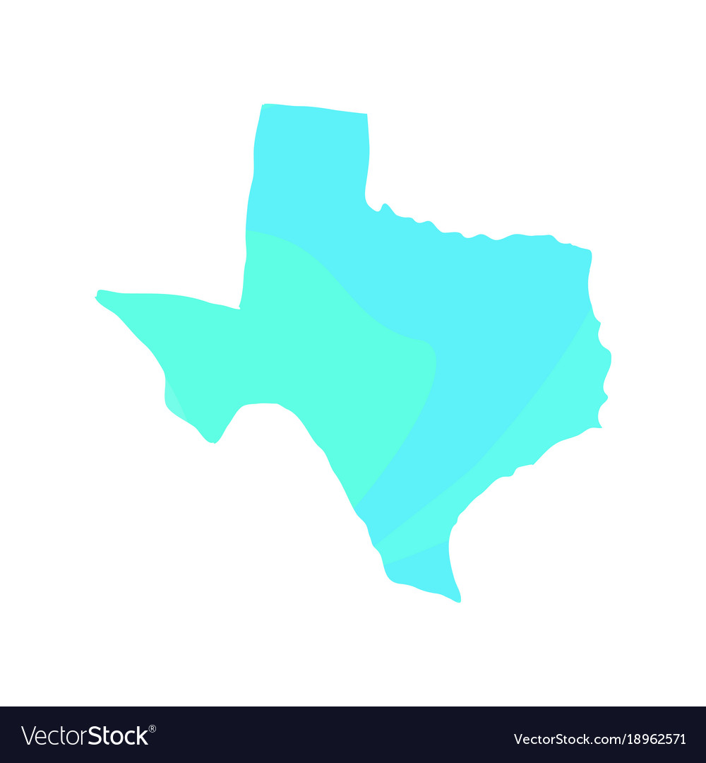 Political Map Of Texas Royalty Free Vector Image