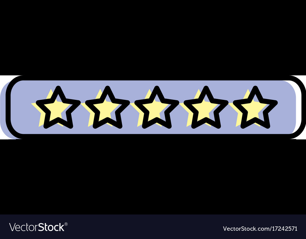 Rating stars bar to choose the favorite