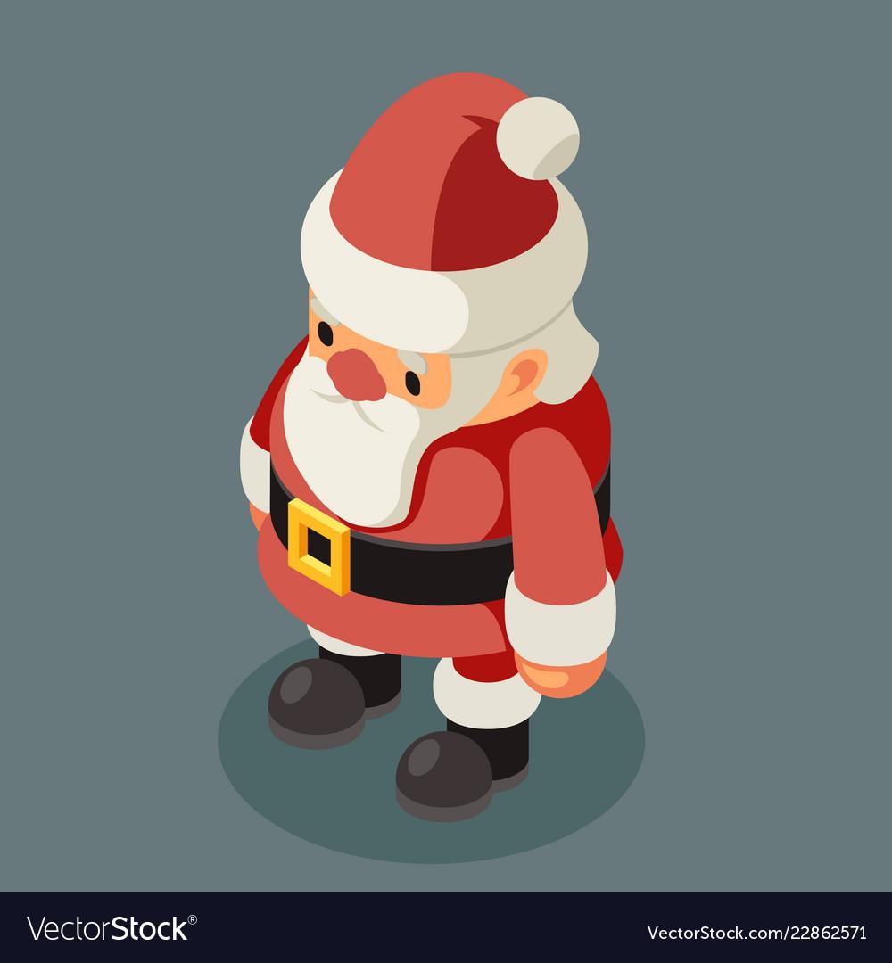 Santa claus isometric old man christmas character