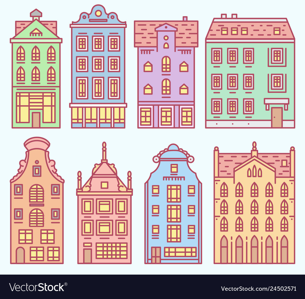 Set europe house or apartments cute