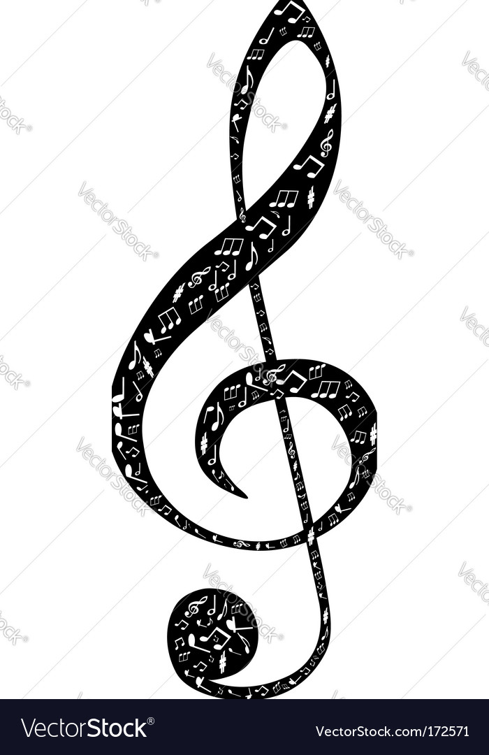 Treble Clef Design Royalty Free Vector Image Vectorstock
