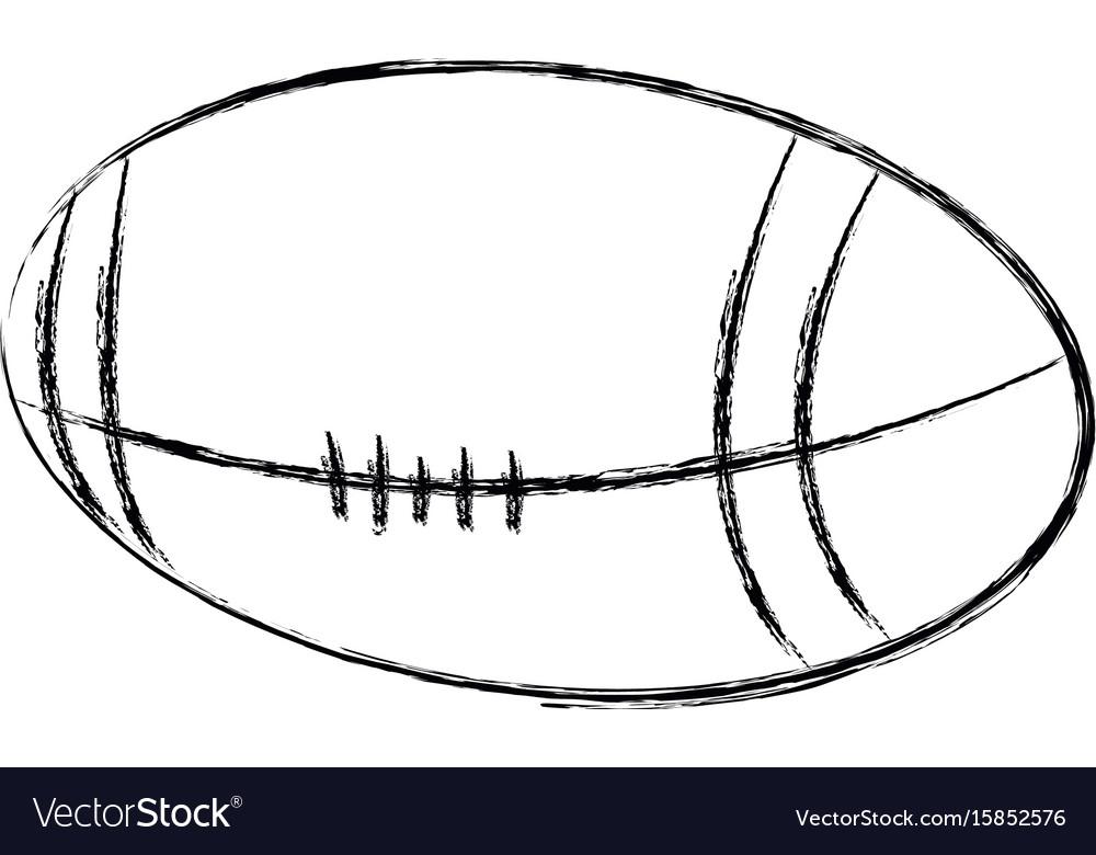 American football ball sport equipment image vector image