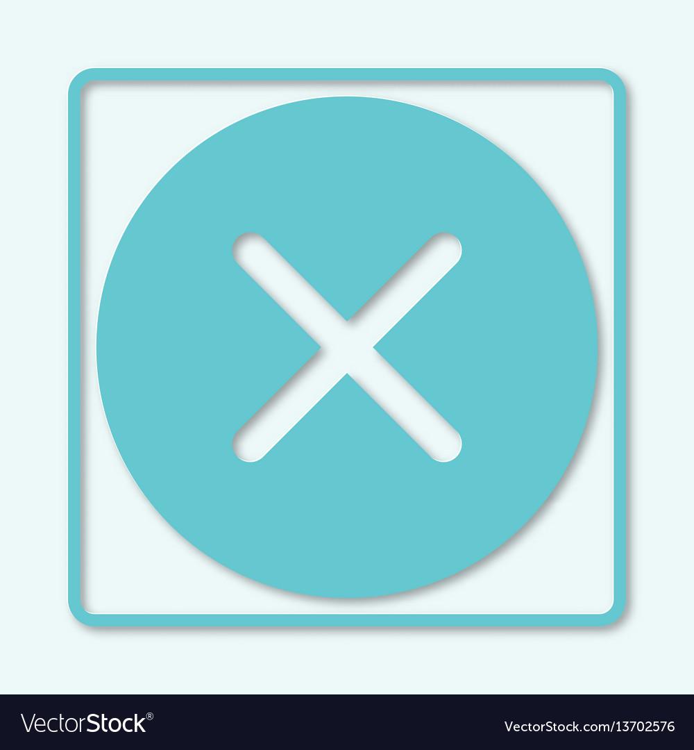 Check mark icon shadow no reject negativity vector image