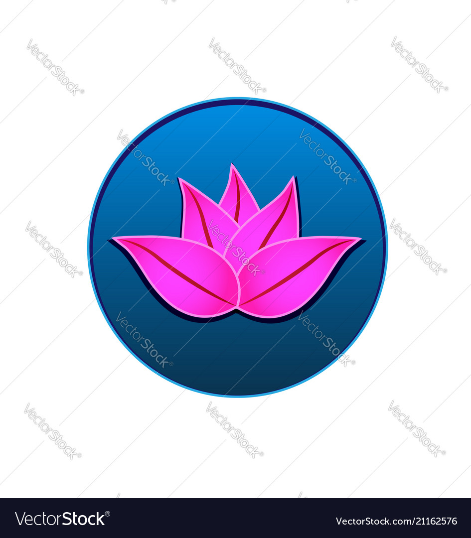 Lotus icon logo seal design
