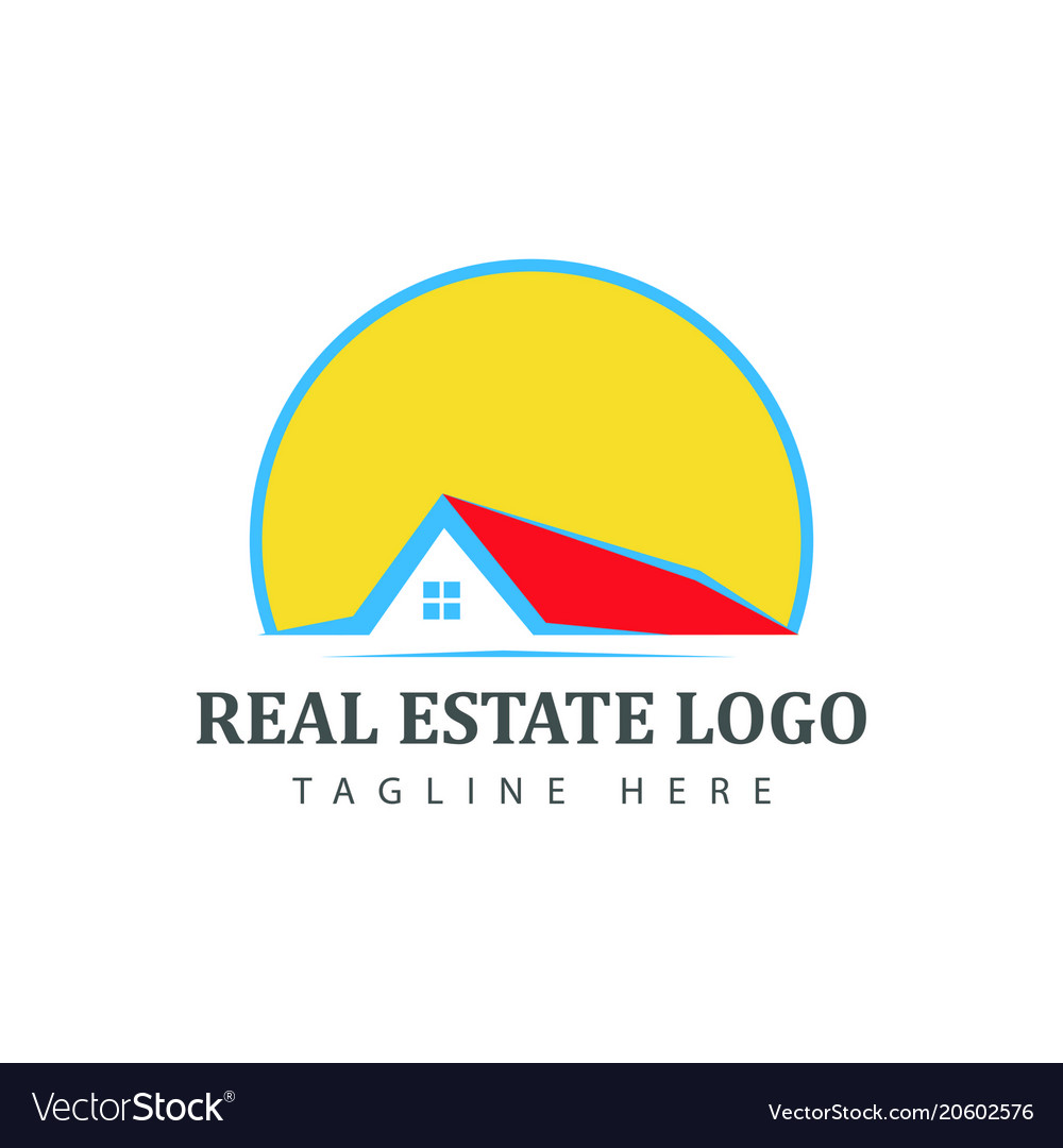Real estate logotype template construction logo