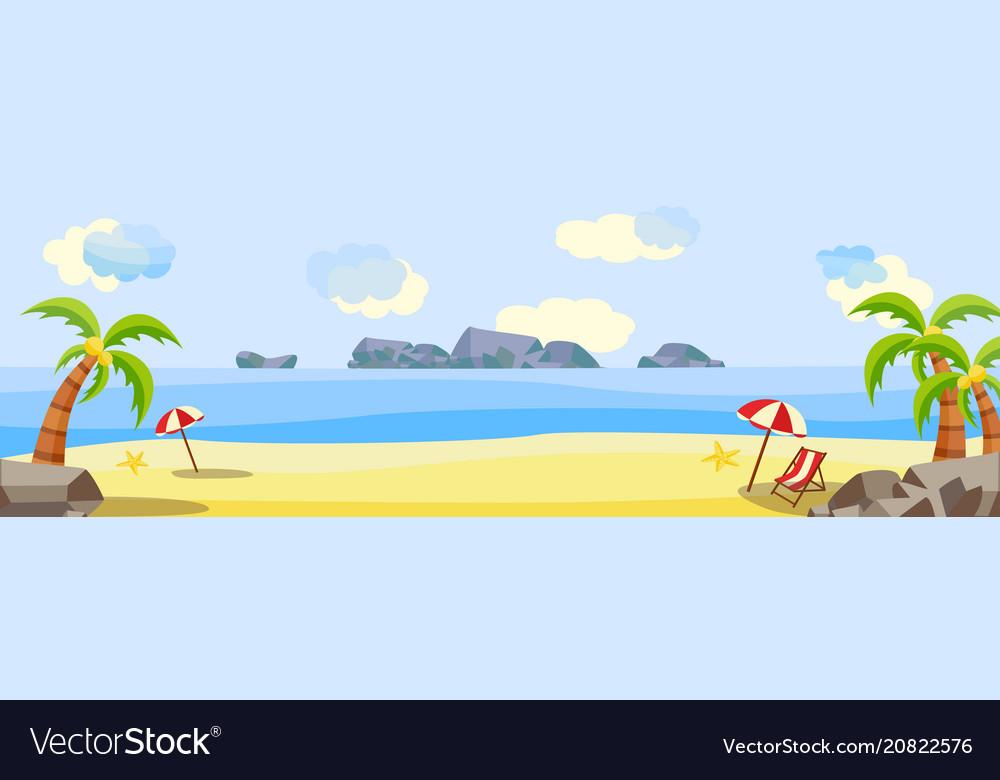 Tropical beach seaside party landscape