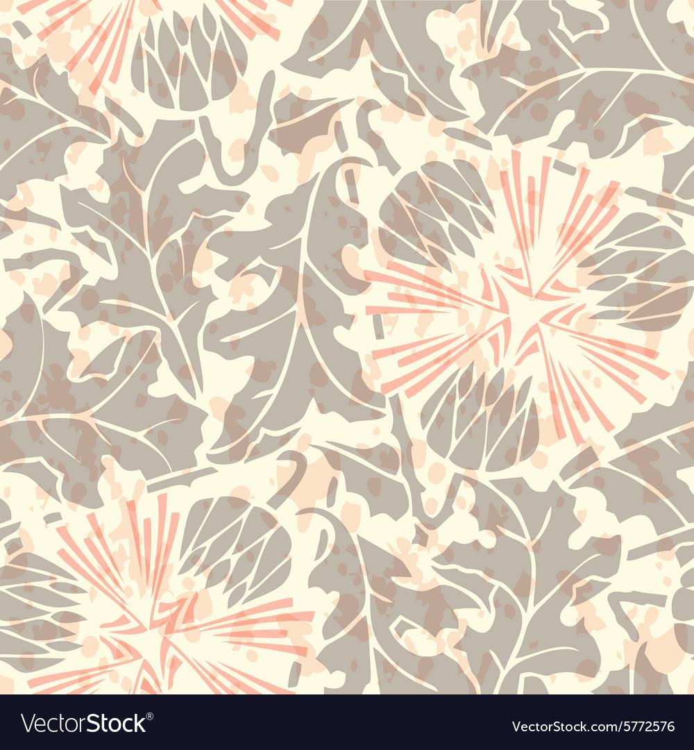 Vintage Seamless floral linen pattern vector image