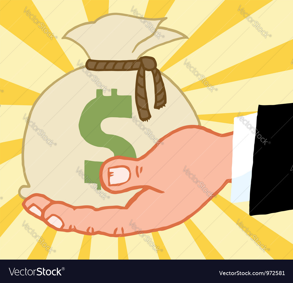 Bussines Hand vector image