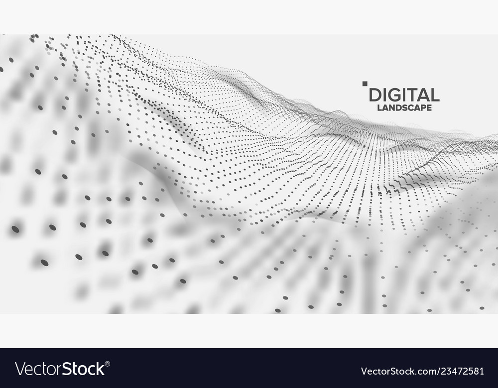 Digital landscape data technology wave