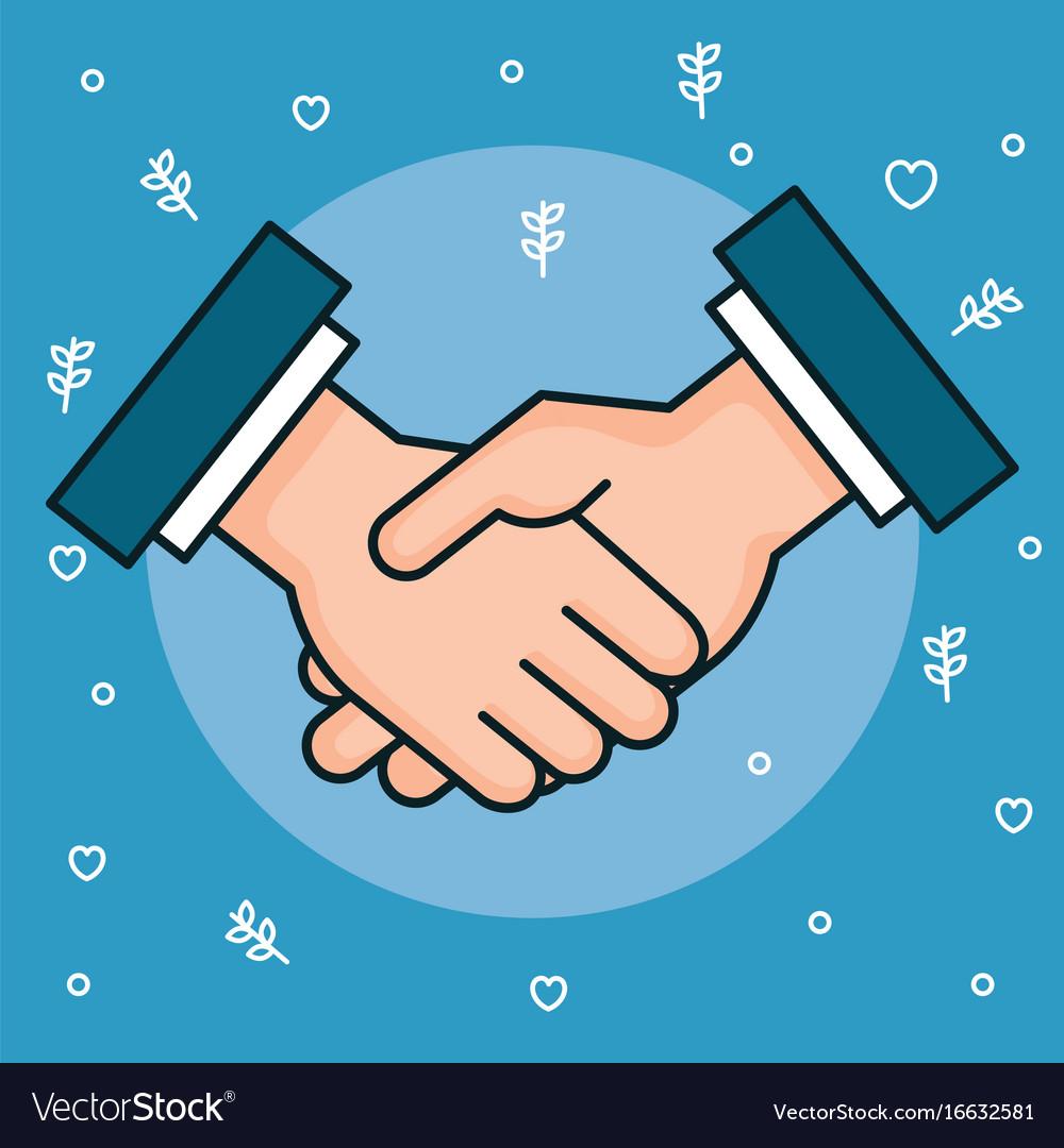 hands symbol peace hands man handshaking vector image