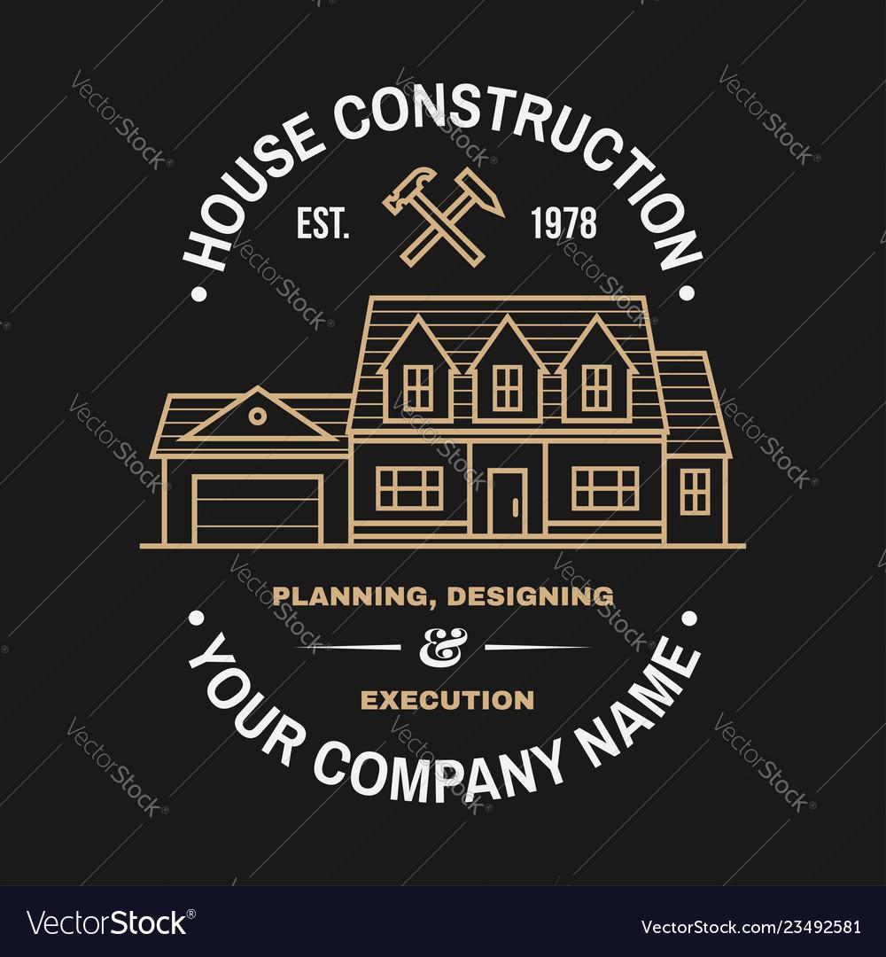 House construction company identity with suburban