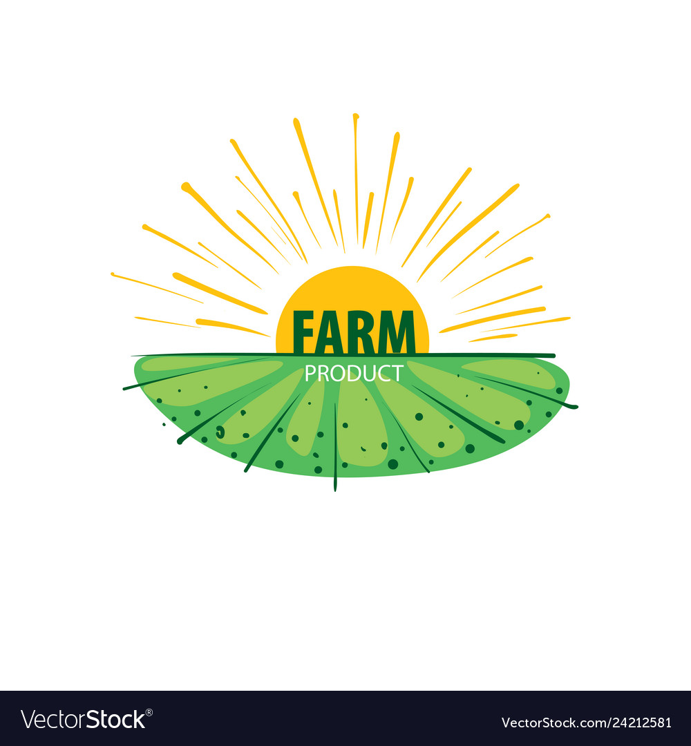 Logo with the image of the field for farms