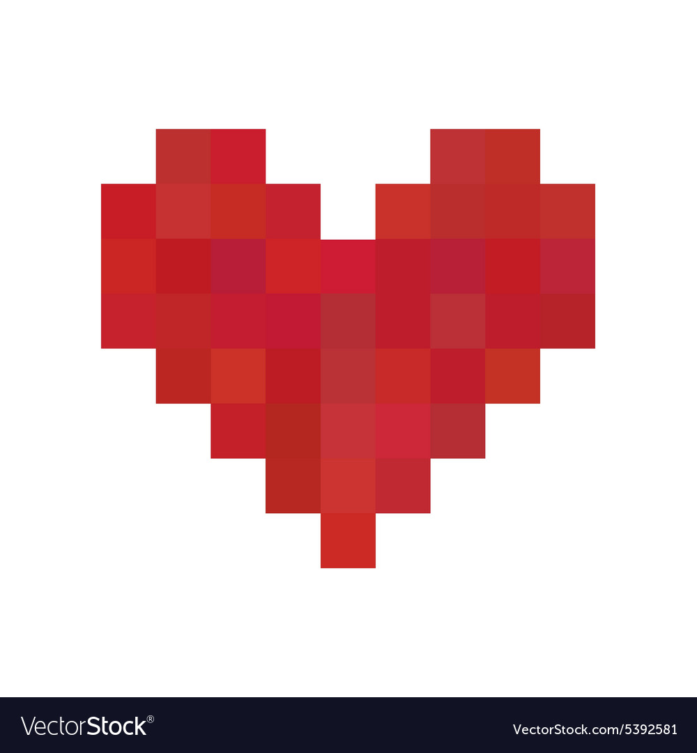 Red Pixel Heart Royalty Free Vector Image Vectorstock Pixel heart has disabled new messages. vectorstock