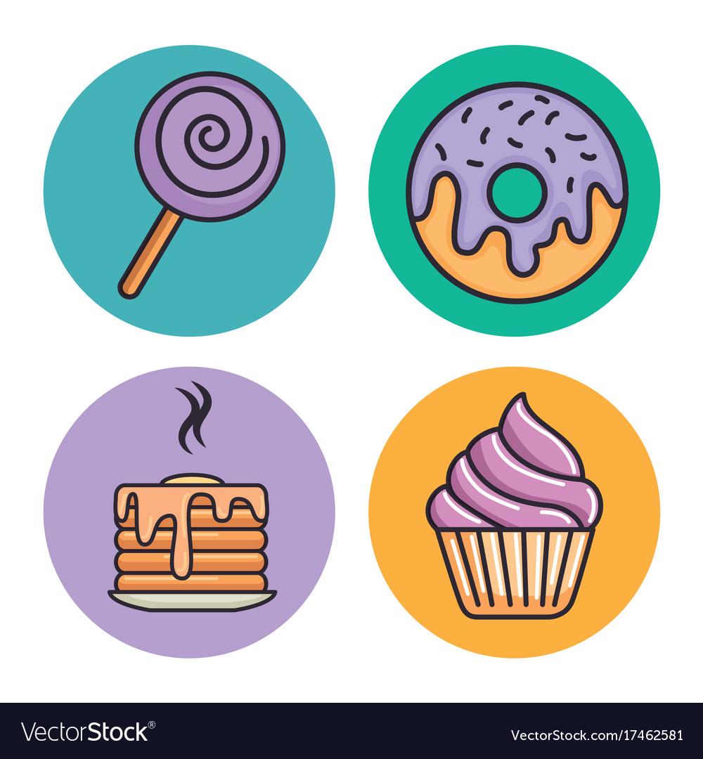 Set of sweets design