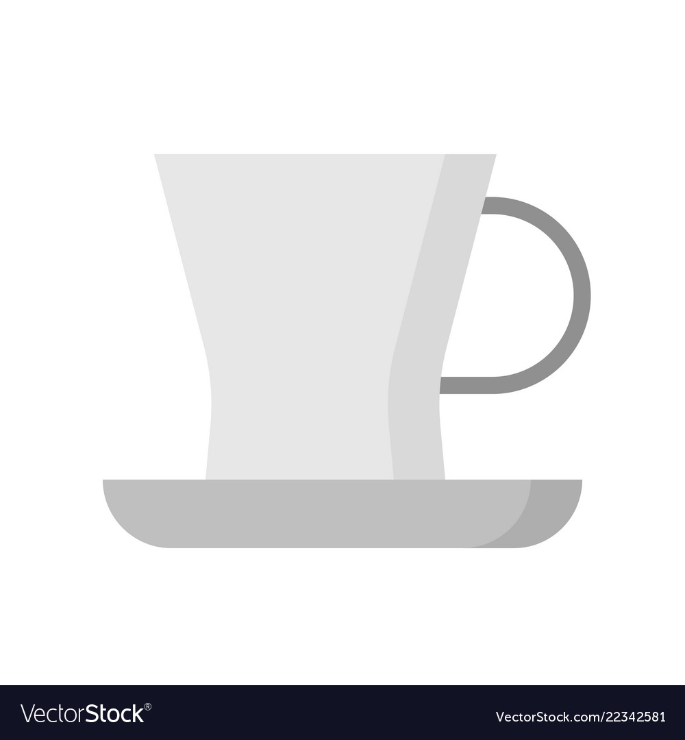 Tea Cup And Saucer Kitchenware Flat Design Vector Image