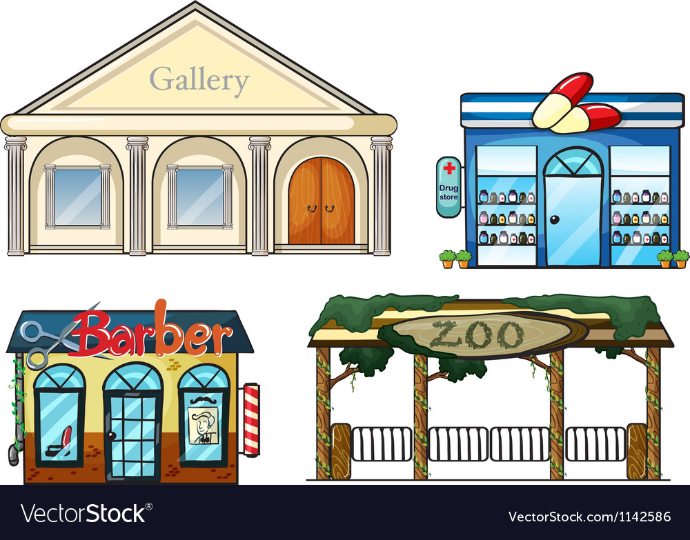 A gallery drug store barber shop and zoo