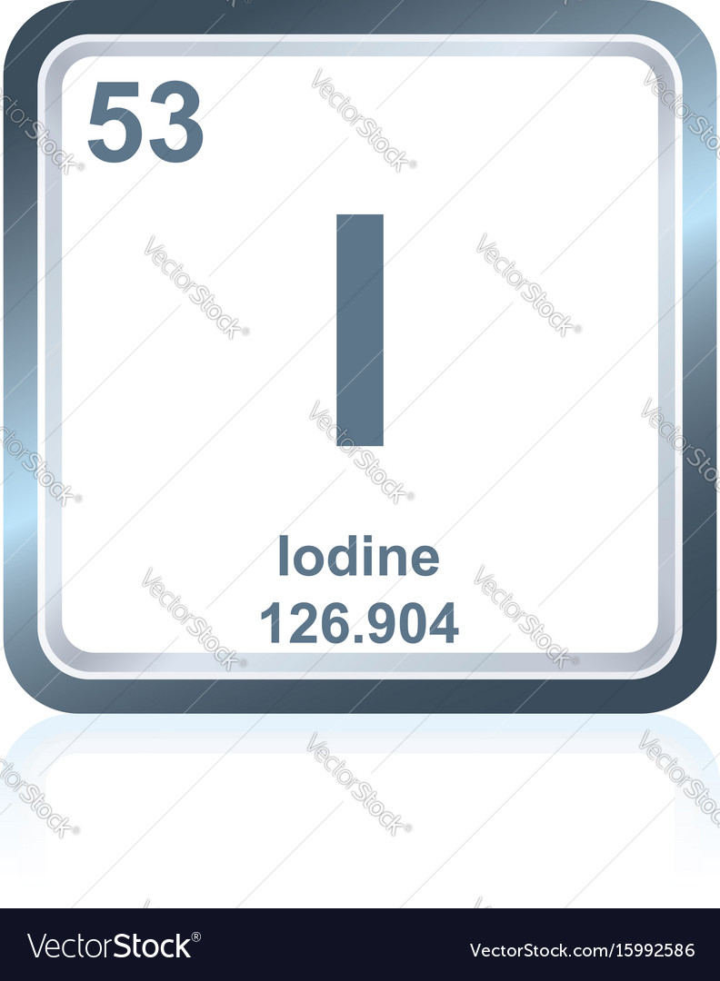 Chemical element iodine from the periodic table vector image urtaz Choice Image