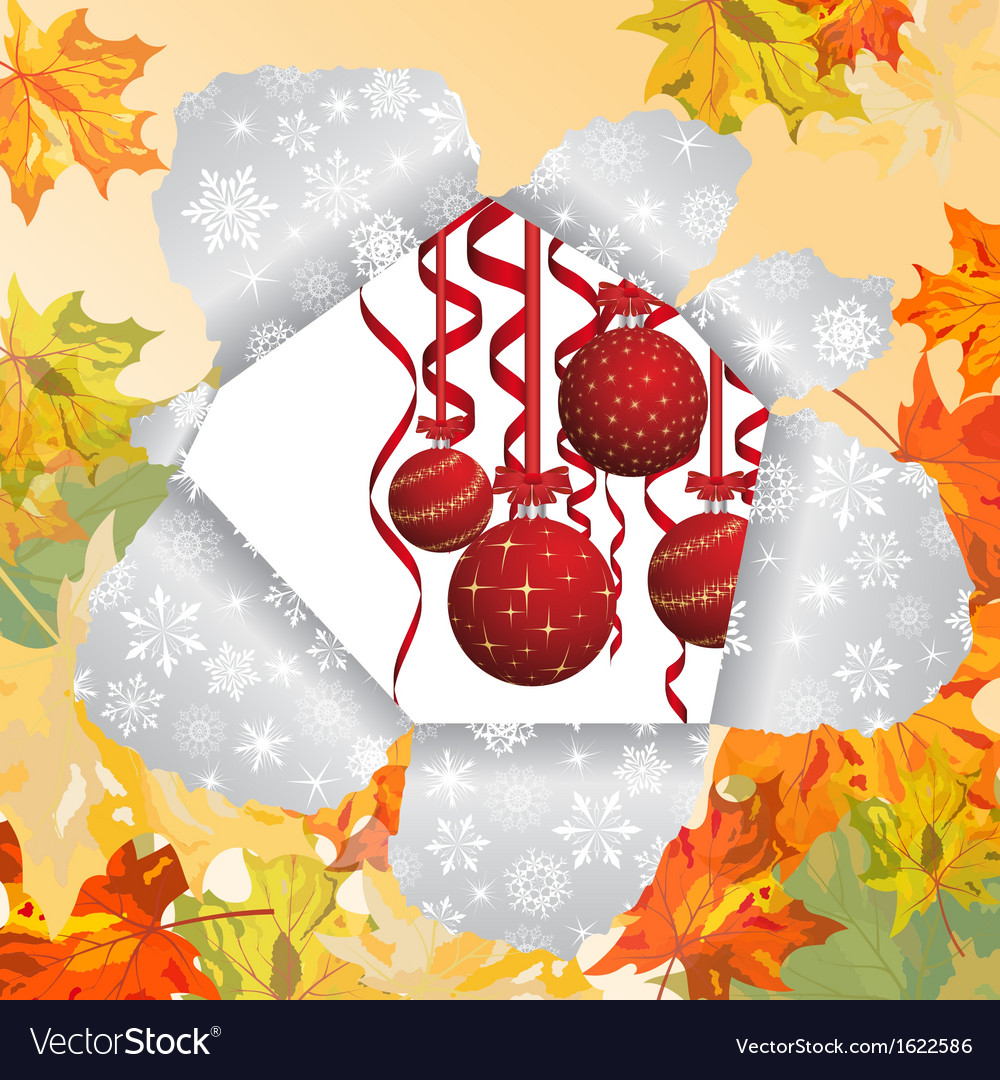 Christmas autumn vector image