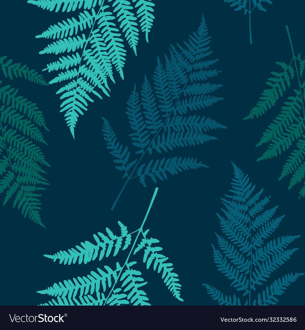 Fern leaf seamless pattern background