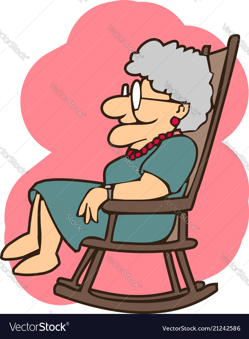 new concept 693b1 24943 Granny in a rocking chair cartoons