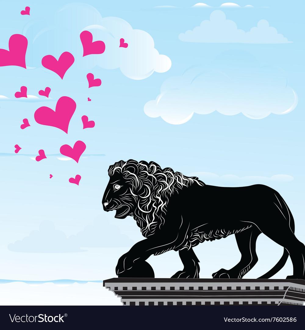 Love heart travel destination background