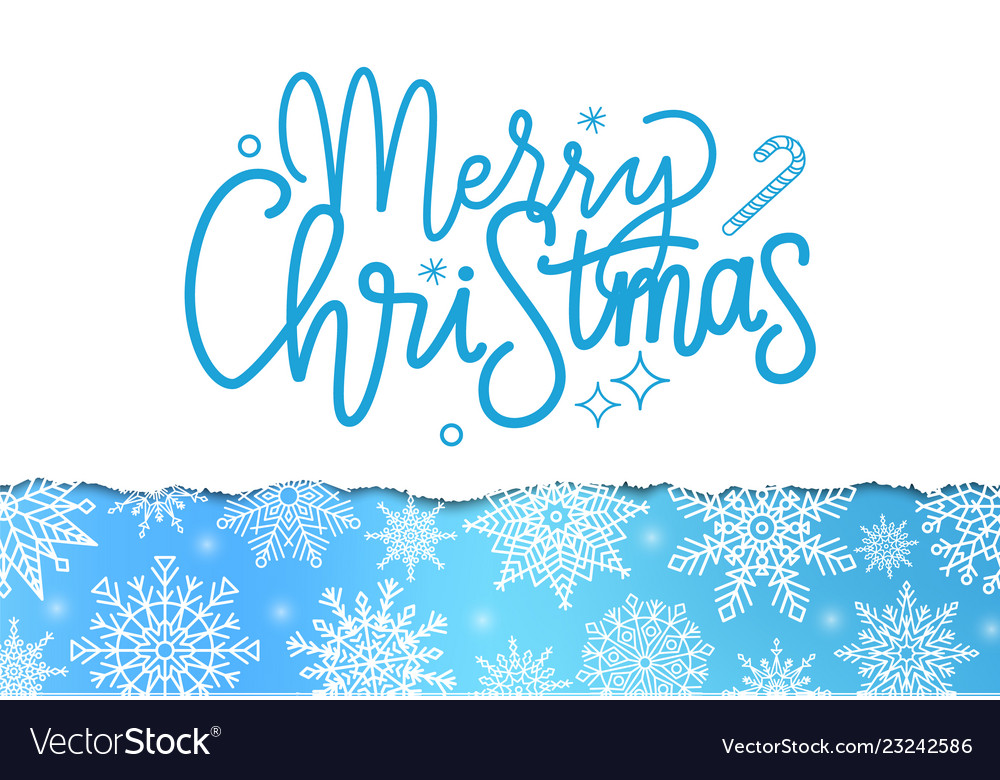 Merry christmas inscription winter lettering sign