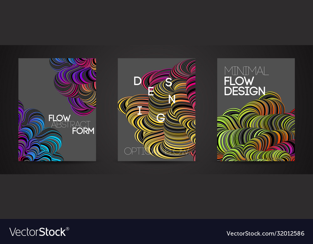 Modern abstract design background rainbow flow