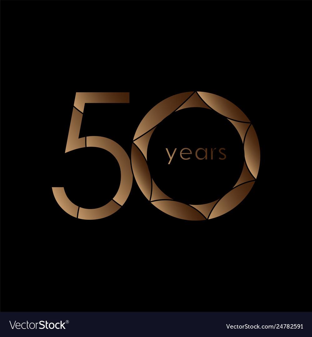 50 year anniversary logo template design