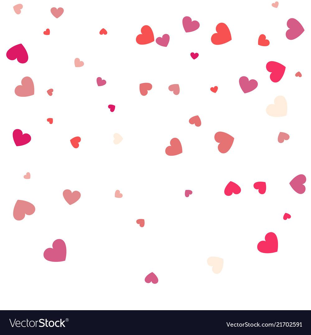 Beautiful confetti hearts falling on background