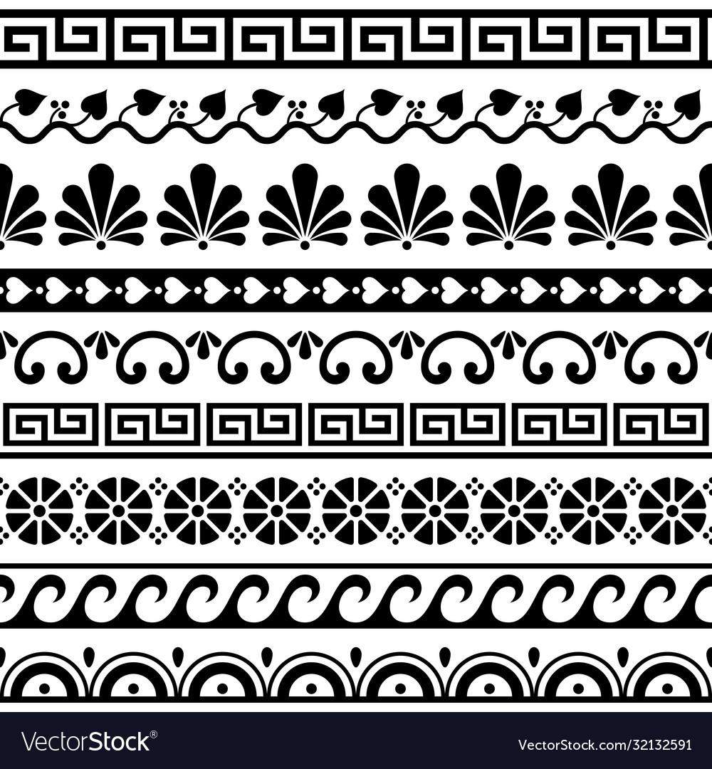 Greek key pattern waves seamless pattern