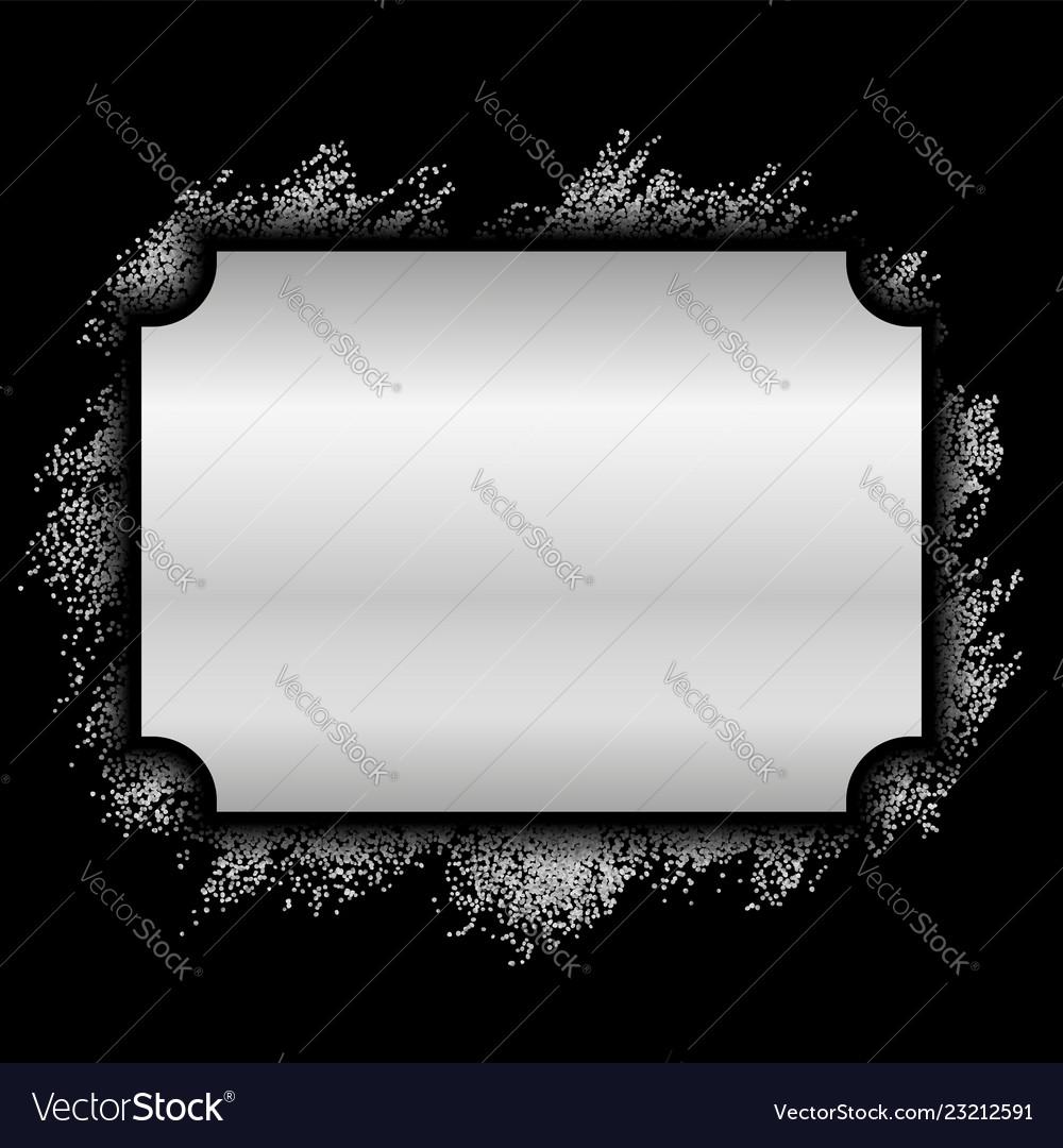 Silver frame beautiful glitter design vintage