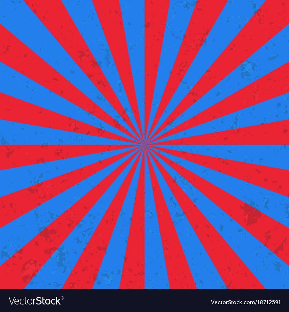 Sun burst background circus vector image