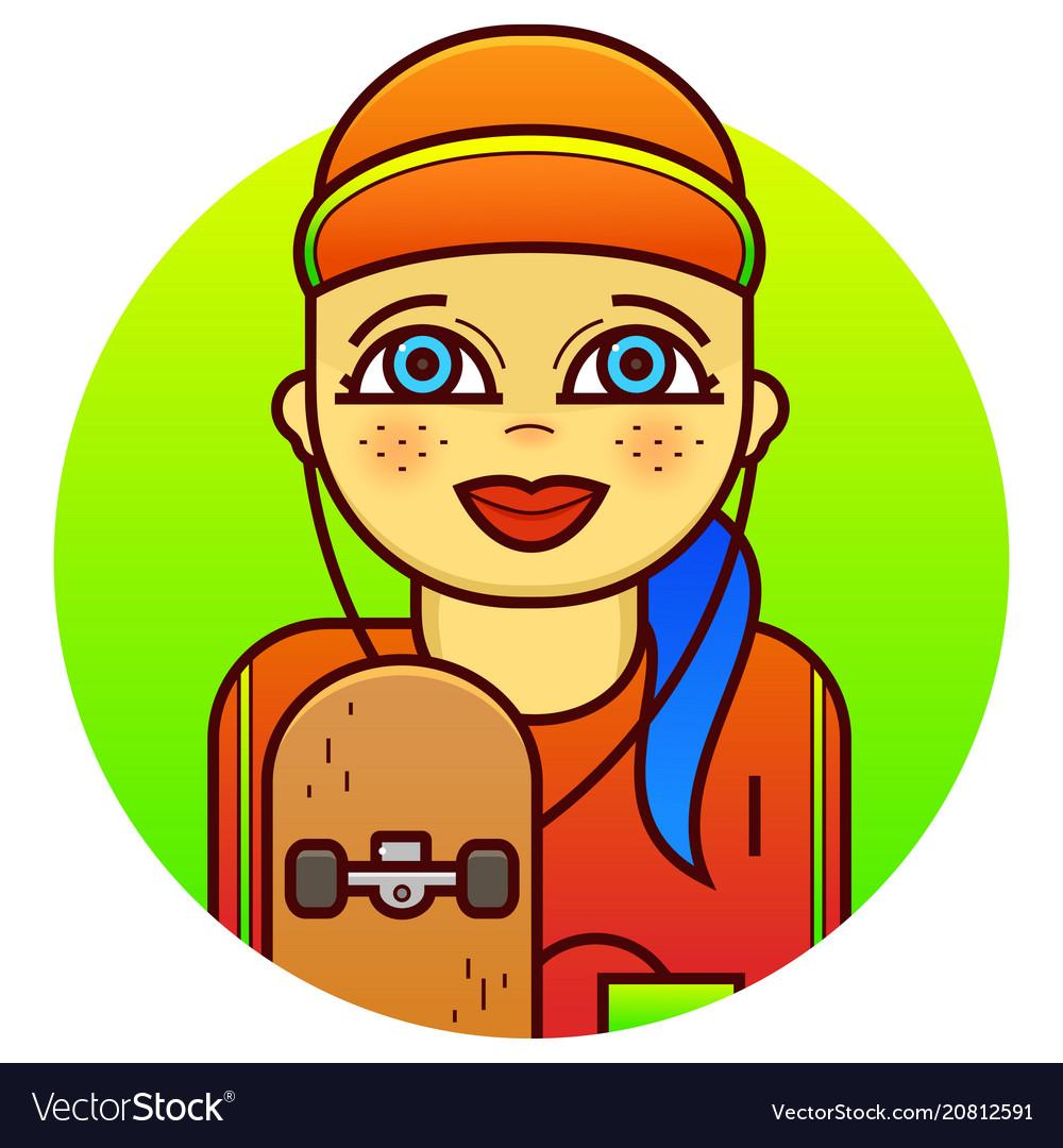Woman skateboarder