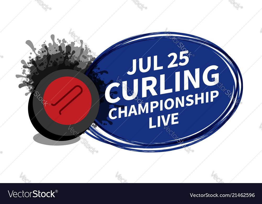 Curling stone sport scoreboard spotlight