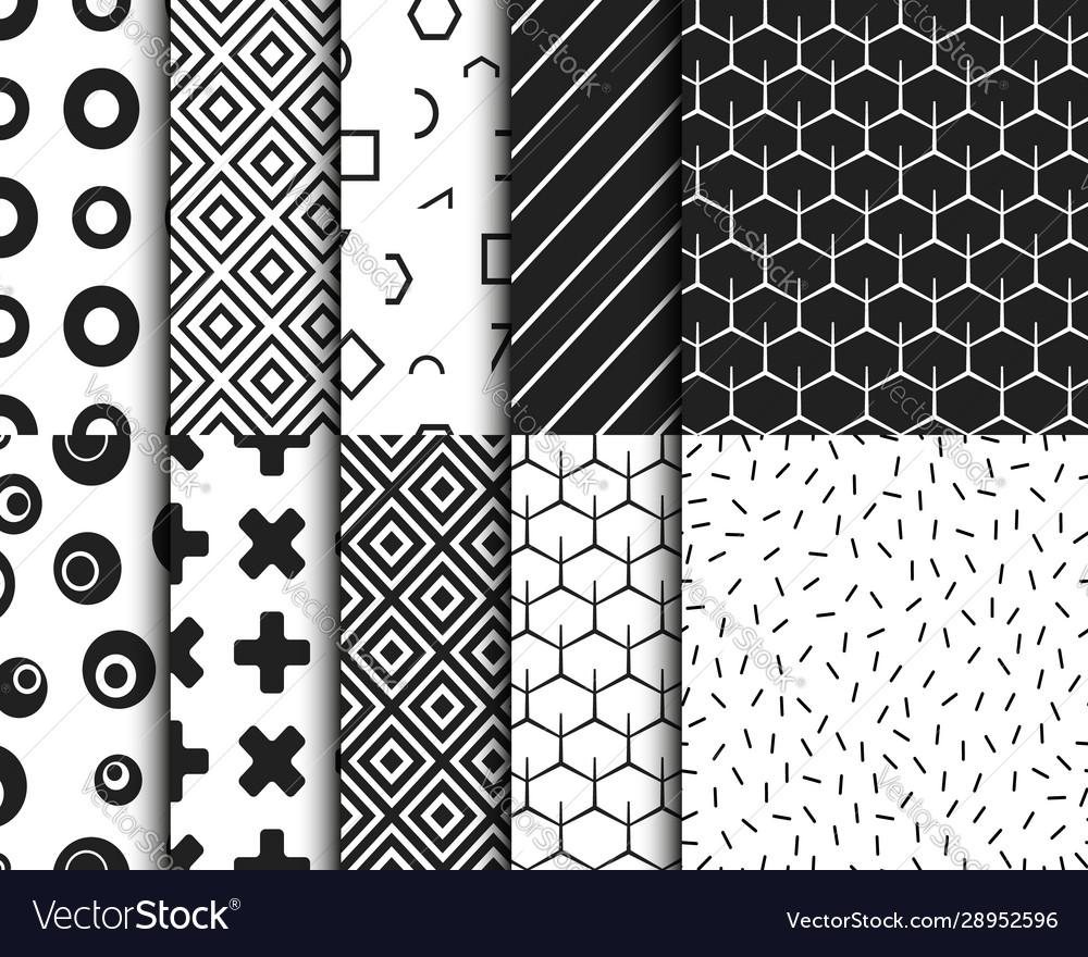 Geometric retro seamless pattern background
