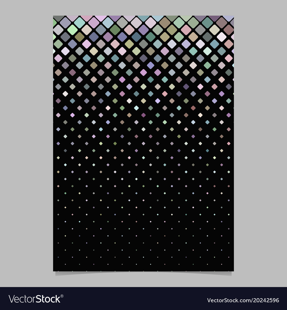 Geometrical pattern brochure template - mosaic