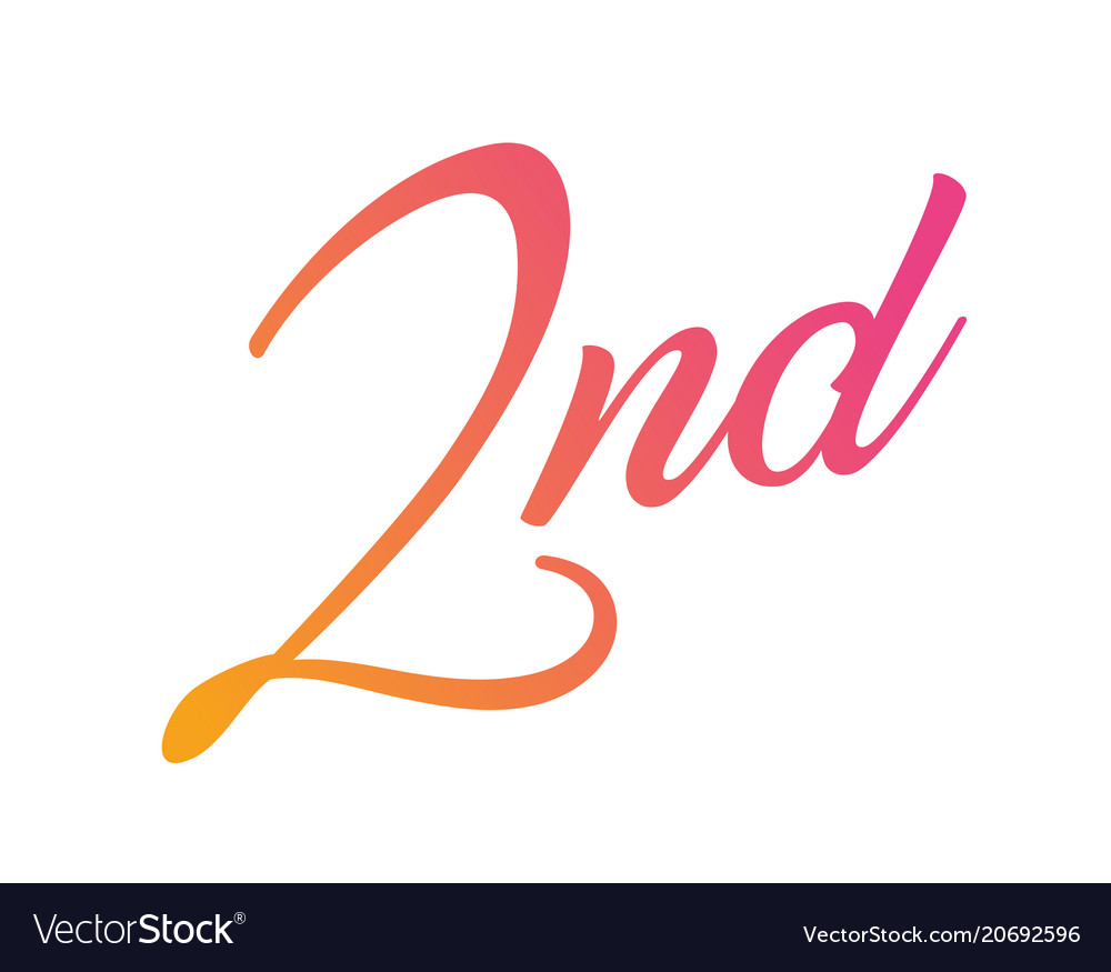 Gradient pink to orange isolated hand writing vector image