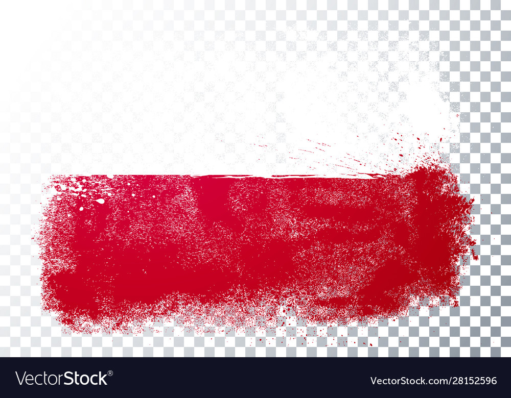 Grunge and distressed flag poland