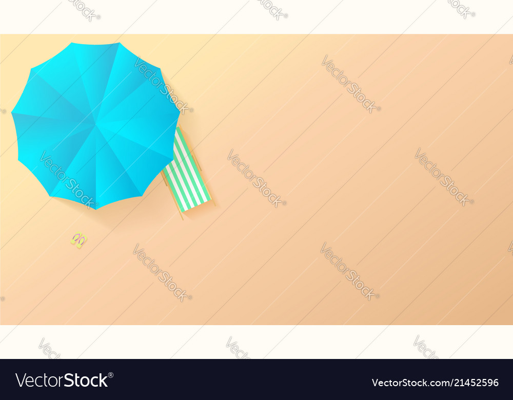 Minimalistic view of summer beach in paper craft