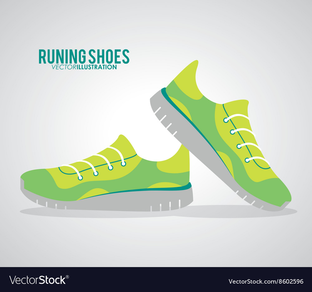 Running shoes design fitness concept