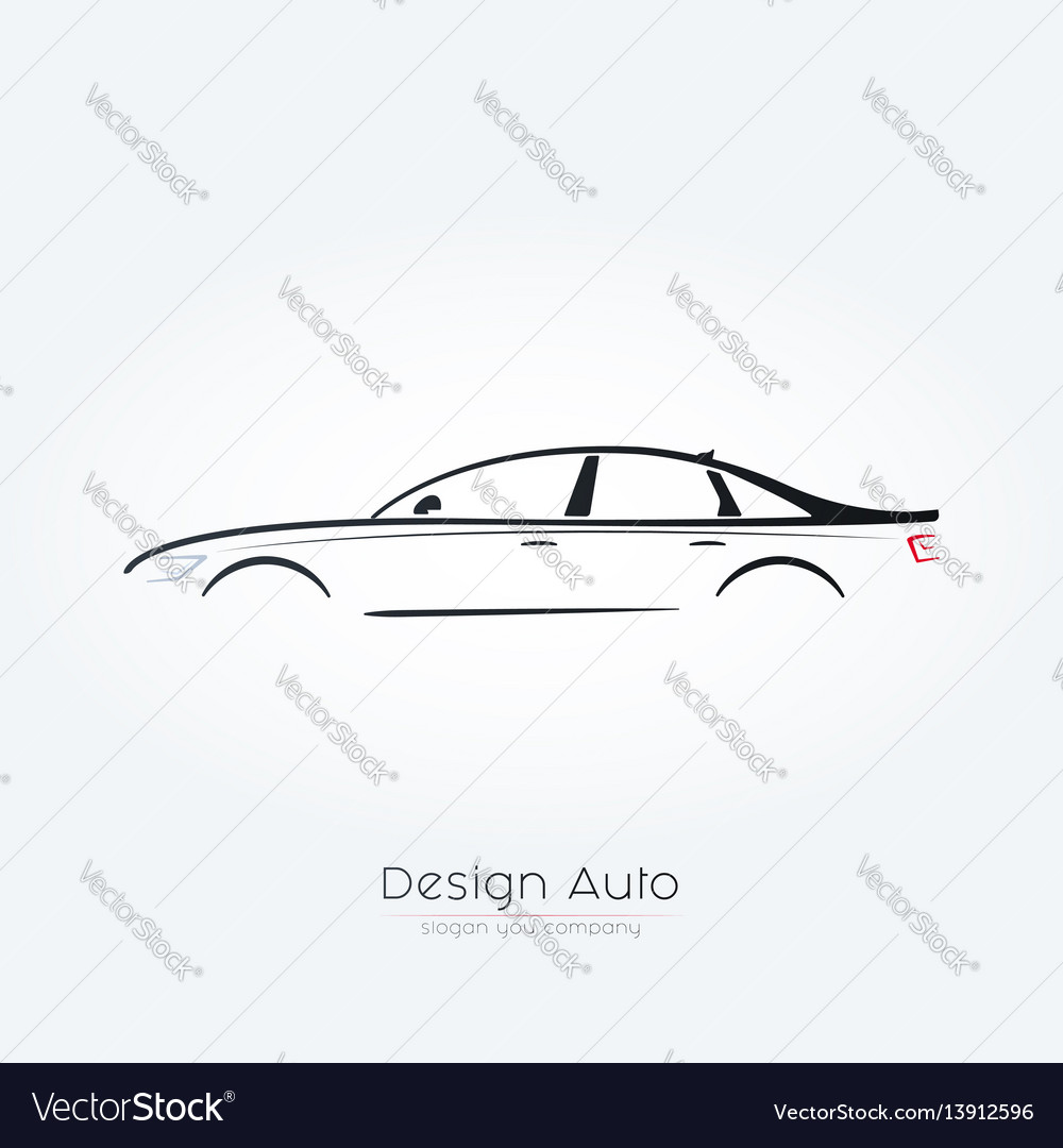 Sedan car silhouette design