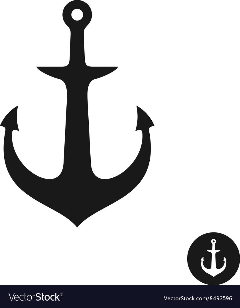 509b51a18 Ship anchor simple black one piece silhouette