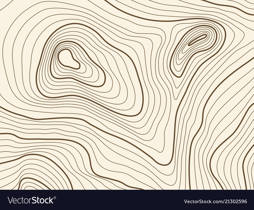 Topographic Map Of A Mountain.Topographic Map Background Of Mountain Terrain Vector Image